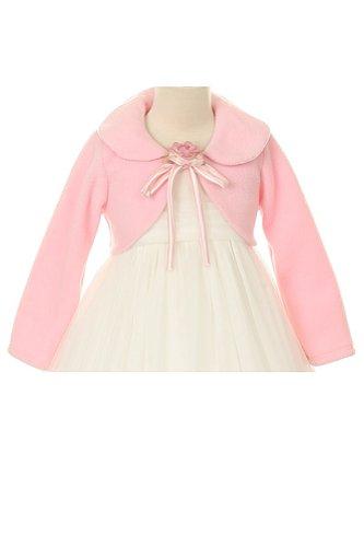 [Cozy Long Sleeve Bolero Jacket Cover - Pink Girl 6] (Black And White Cape)