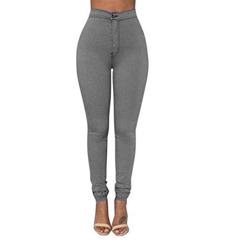 Classique Sexy S Lastique Leggings Mode Multi HCFKJ XXXL Crayon Collant Jeans Grande Couleurs Pantalon Fille Femmes Gris Taille Denim Skinny Casual VTements Slim UqRw7RPZ