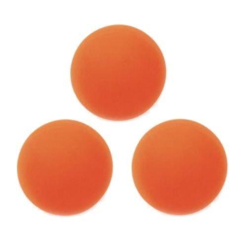 Champion 3 Pack Soft Safe Indoor Outdoor Street Floor Hockey Balls Orange