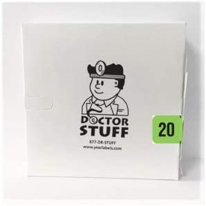 500//Roll 10 Rolls Doctor Stuff 2020 File Folder Year Labels for Charts PMA Compatible Series Stickers 3//4 x 1-1//2 Ships Same Day//Next Day Fluorescent Green
