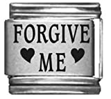 Forgive Me Laser Etched Italian Charm