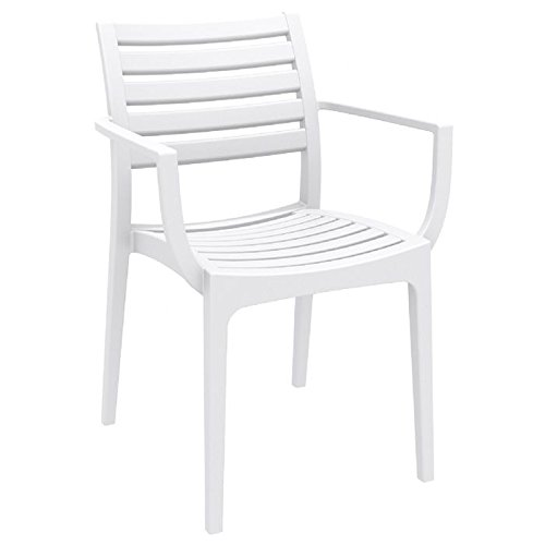 Compamia Artemis Outdoor Dining Arm Chair (Set of 4) - White