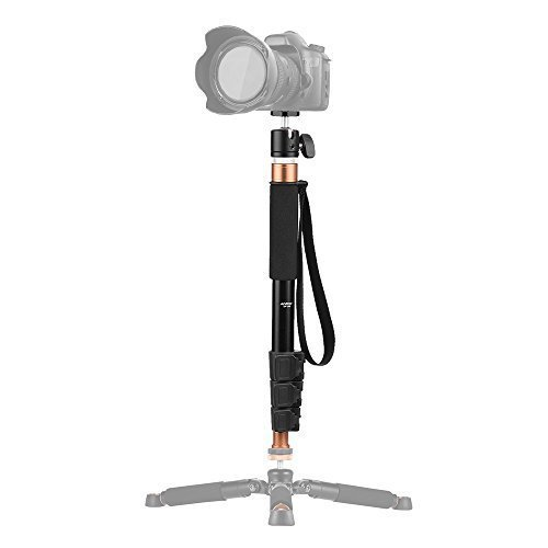 "Box Aluminium Section (Andoer TP-148 4-Section Aluminum Monopod with Camera Ballhead 360"" for Canon Nikon Sony DV Digital Cameras, Boom Pole for Microphone)"
