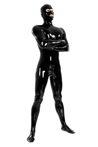 - 315ASf U4bL - BlackSunnyDay Latex Rubber Zentai Catsuit With Open Eyes And Mouth