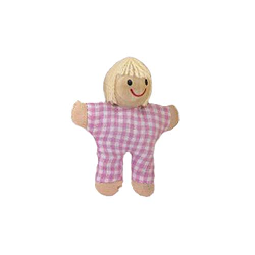 BOLUOYI Kid Educational Toys ,Wooden Furniture Dolls House Family Miniature People Doll Toy for Kid Child ()