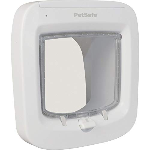- PetSafe Microchip Cat Door, Exclusive Entry with Convenient 4 Way Locking, Easy Install, Energy Efficient
