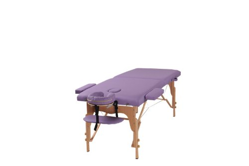 The Best Massage Two Fold Purple Portable Massage Table – PU Leather High Quality – by Heaven Massage