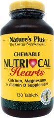 Natures Plus Nutri Cal Hearts - 500 mg Calcium, 120 Vanilla-Flavored Chewable Tablets - Calcium, Magnesium & Vitamin D Supplement, Supports Skeletal & Cardiovascular Systems - 60 Servings ()