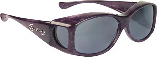 Fitovers Eyewear Glides Sunglasses with Swarovski Elements on temples (Purple Haze, - Sunglasses Glide