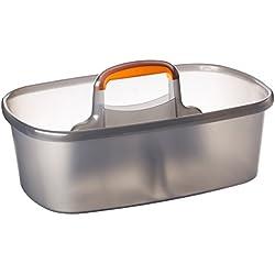 Casabella Rectangular Storage Caddy, Graphite, 4 gallons - 62441