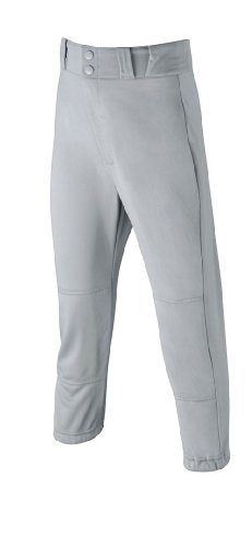 Wilson Youth Poly Warp Knit baseball Pant, grey, Large