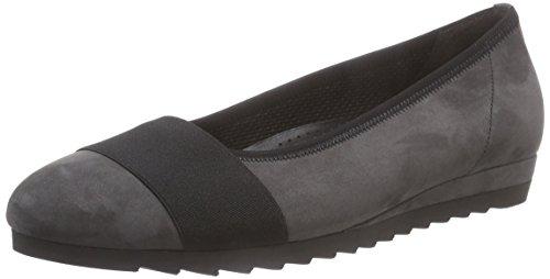 Gabor Gabor Basic - zapatos de tacón cerrados de cuero mujer gris - Grau (dunkelgrau (schw) 43)