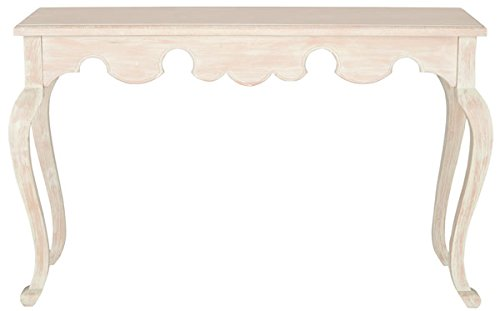 Safavieh American Homes Collection Becky Weathered White Console Standard (Shabby Chic Sofa Table)