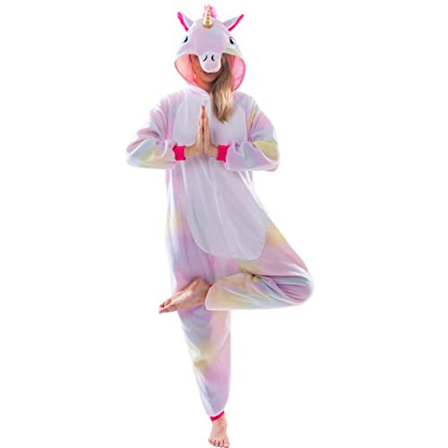 Spooktacular Creations Unicorn Onesie Costume Pajamas Adult (Large) -