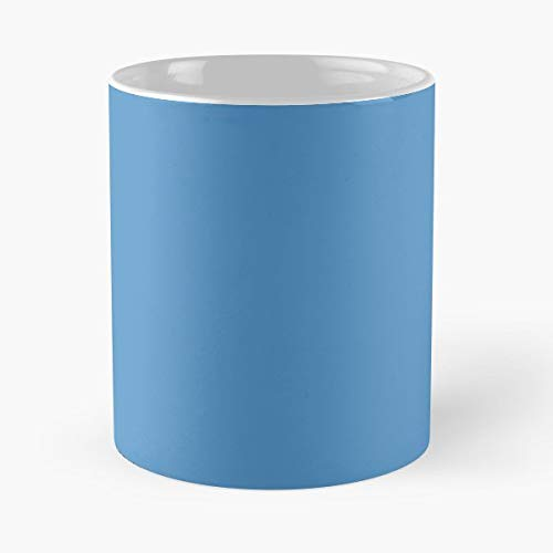 Azure Blue Simple Pantone Colorful Solid Color Mug Coffee Mugs For - Best Pantone Coffee Mug Gift