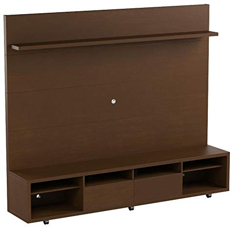 Manhattan Comforts Cabrini Stand and Floating Wall TV Panel 2.2, 85.8Lx17.5Wx73H, Nut Brown by Manhattan Comforts