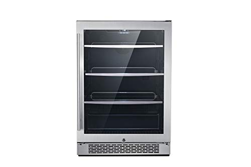 Hanover HBV60201-4SSL Studio Series 24 172-Can Capacity and Door Lock Single Zone Beverage Center, Designer -