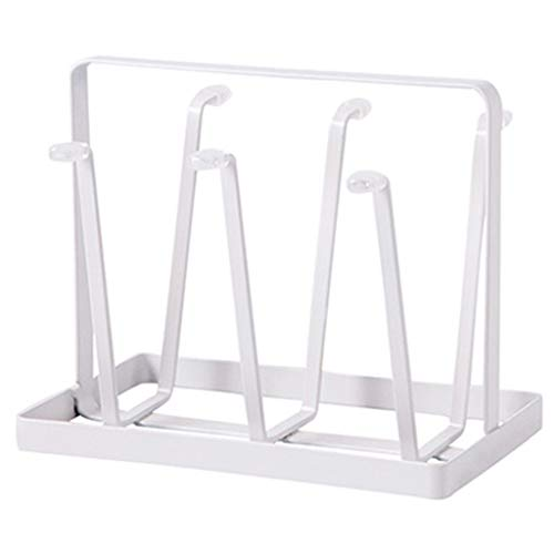Ktyssp Metal Glass Cup Rack Water Mug Draining Drying Organizer Holder Stand Tray Holder Stand (A)