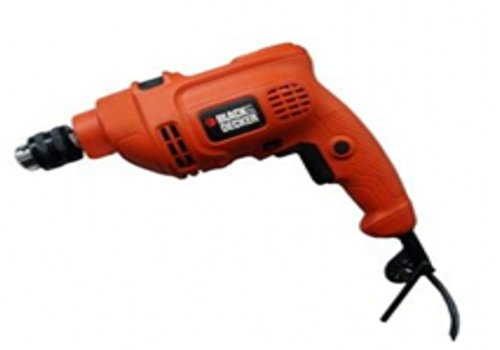 Bundle 2 Items: Black & Decker KR454RE 450W Hammer Drill, Acupwr Acucraft Plug Kit, WILL NOT WORK IN USA/CANADA OUTLETS, (Usa Drill Kit)
