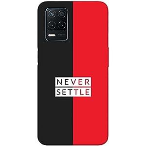 SharpEseller Never Settle Black Red Printed Soft Designer Mobile Back Cover for Realme 8 5G