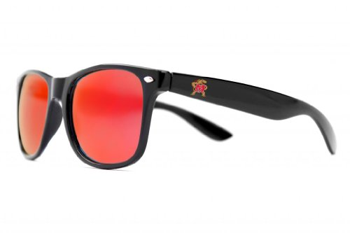 Society43 NCAA Maryland Terrapins MARY-2 Sunglasses-Black Frame, Red Lenses, Black, One Size -