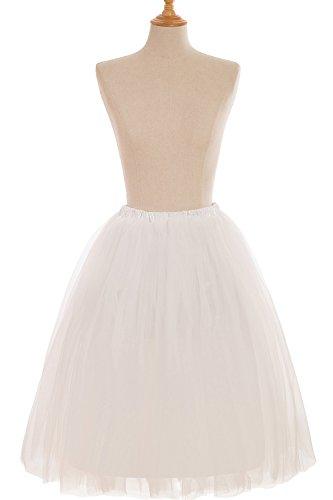 Babyonline Falda de tul mini tutú con varias capas y cintura elástica crudo