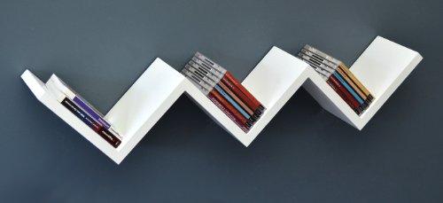 Ts Ideen 5704 étagère Murale Lounge Zigzag Design Rétro Cd Dvd