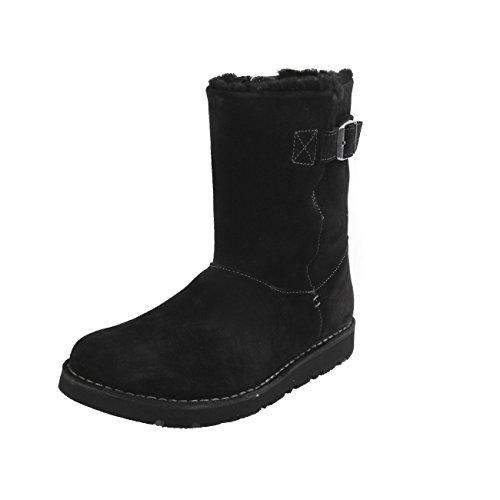 Birkenstock Westford Sheepskin Vl - botas de cuero mujer negro - negro