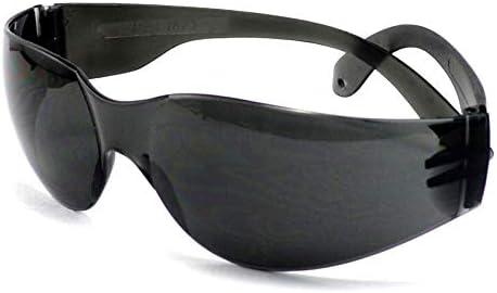 保護メガネ - 透明サンディング、乗馬、防風、防塵 (Color : Black)