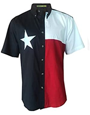 Texas Flag Short Sleeve Twill Shirt