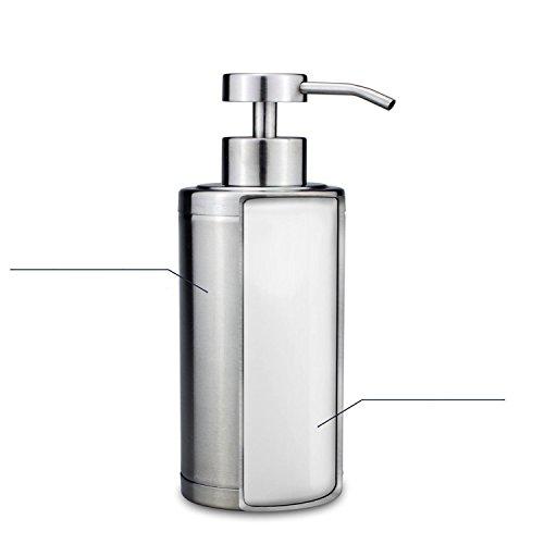 NPL Decorative Reusable Liquid Soap Dispenser Countertop Kitchen Bathroom 8.4 Oz 304L Stainless Steel Lotion Dispenser 250ML Liquid Bottle Hand Wash Rust Proof Pump Pneumonia Disinfectant Kill Viruses