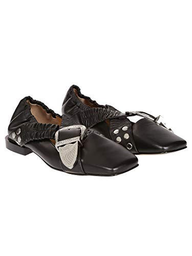 Pulla Toga Aj928black Flats Women's Black Leather d1pKU1rcA