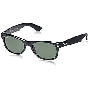 Ray-Ban NEW WAYFARER - BLACK Frame CRYSTAL GREEN Lenses 52mm Non-Polarized