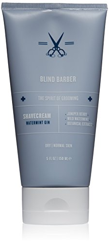 Blind Barber Watermint Gin Shave Cream, 5 fl. oz.