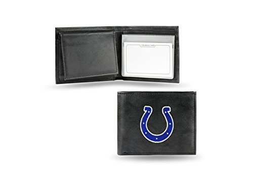 NFL Indianapolis Colts Embroidered Genuine Leather Billfold - Mens Indianapolis Warehouse