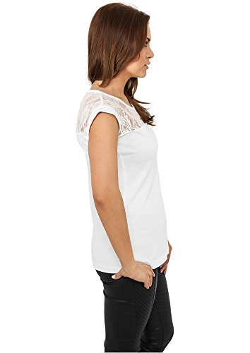 Urban Classics - Camiseta - Manga corta - para mujer blanco