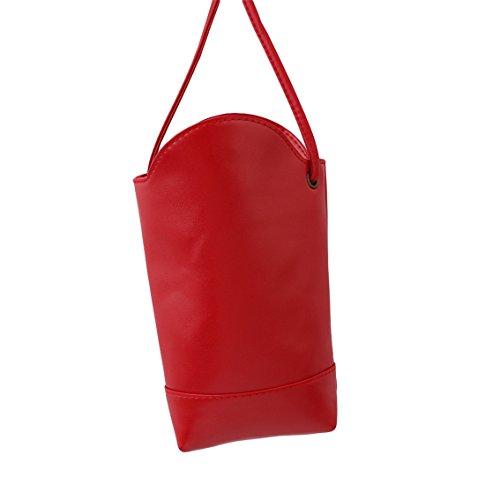 Borsa A Spalla Yesiidor Da Donna Piccola Elegante Borsa A Mano Shopper Rossa