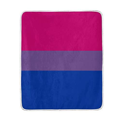 SUABO - Manta para niños y Mujeres con diseño de la Bandera del Orgullo Bisexual