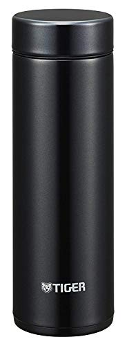 Tiger Stainless Steel Thermos Vaccum Water Bottle, 300 ml, Black