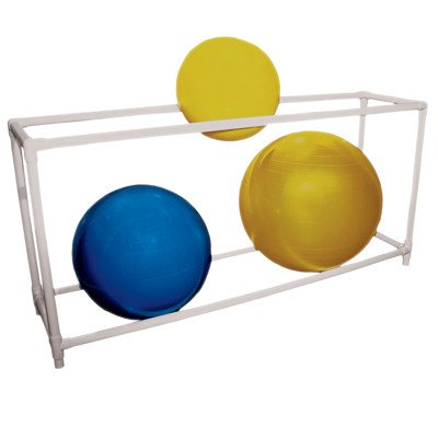 CanDo 30-1833 Inflatable Exercise Ball, Accessory, PVC Stationary Floor Rack, 2 Shelf, 62'' x 20'' x 42'' by Cando