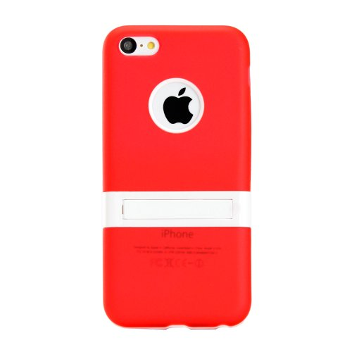 Gearonic PC TPU Case with Stand for iPhone 5C  - Non-Retail Packaging - Red