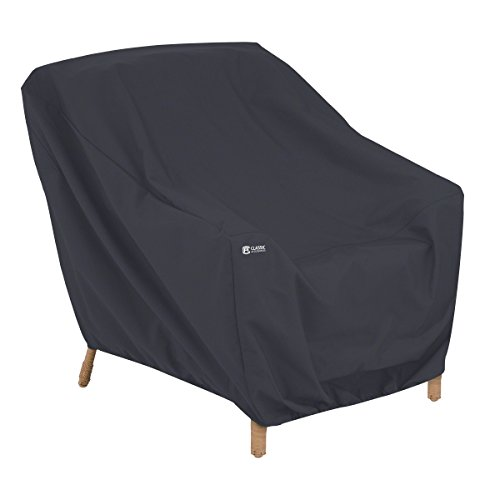 Classic Accessories Patio Lounge Chair Cover, Black, Large