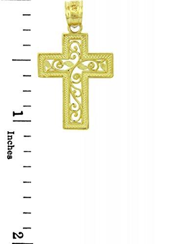 10 ct 471/1000 Or Jaune Croix - La Vie Croix Pendentif
