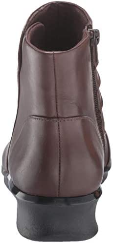 Clarks Women's Hope Twirl Ankle Boot, Dark Brown Leather, 7 Wide