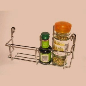 1 Tier 200mm Strong One Tier Chrome Spice Jar Packet Rack Holder   Fits  Onto Small