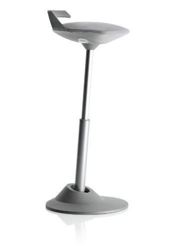 Via Motion Seating Muvman Sit-Stand Stool (Grey seat/Grey - Motion Seating