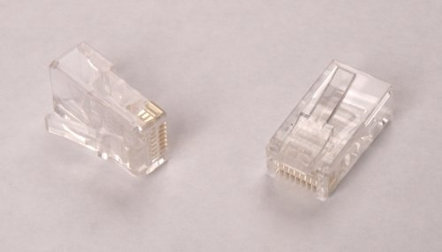 AIR802 Modular Plug, RJ45, 8p8c, CAT5e, Round Cable, Solid or Stranded Center Conductor, ()