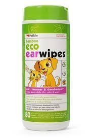 Petkin Pet Eco Ear Wipes Size 80ct Petkin Pet Eco Ear Wipes Dog/Cat 80ct