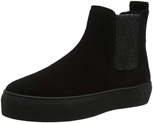 Black 253 765, Chelsea Boots Femme Schwarz (black Lea 004)
