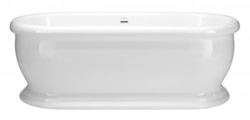 Casa Padrino Art Deco bath detached White model He-The 1735mm - Freestanding Retro